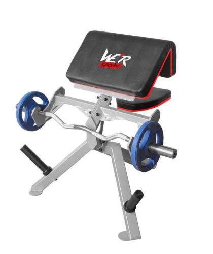 Commercial Preacher Curl Bench Arms Biceps Dumbbell Barbell Weight Training from WeRSports