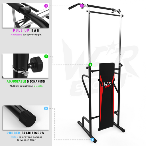 TowerPower Pull Up Station product feature