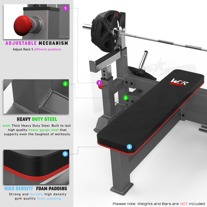 WeRSports bench weights features