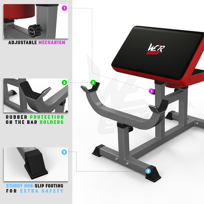 WeRSports preacher bench instructions