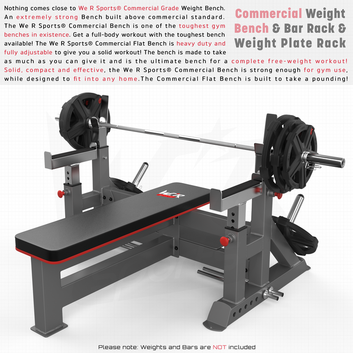 Weight bench and bar rack from WeRSports
