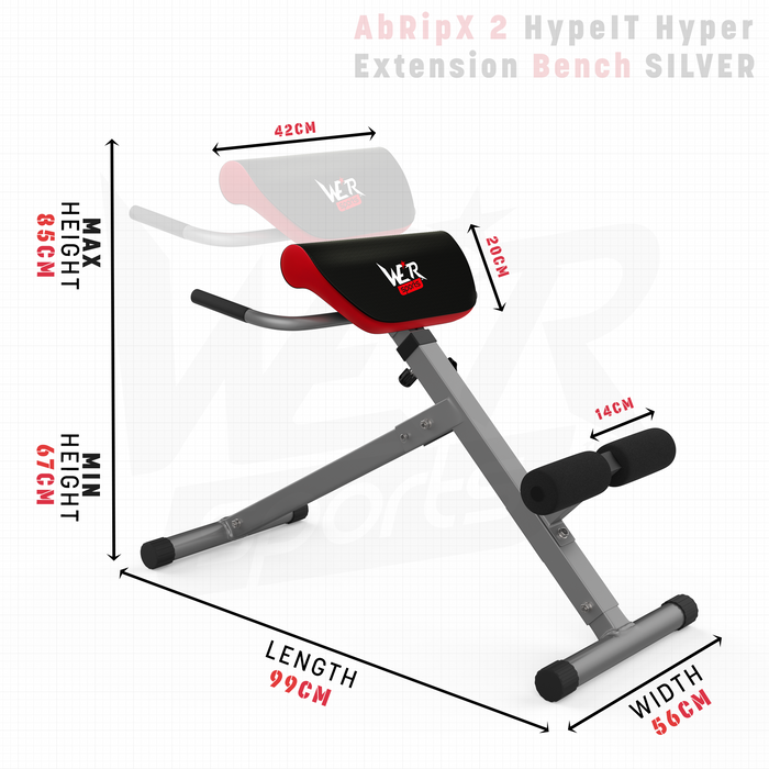 HypeIT hyper extension bench dimensions