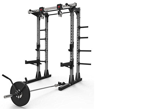 Commercial Half Power Crossfit Rack Swivel Chin Handles Home Gym