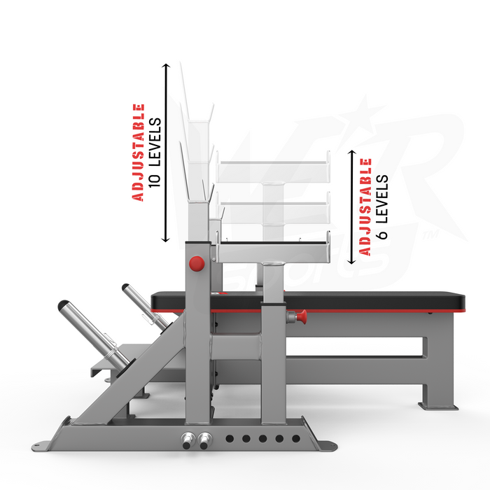 Commercial weight bench adjustable levels