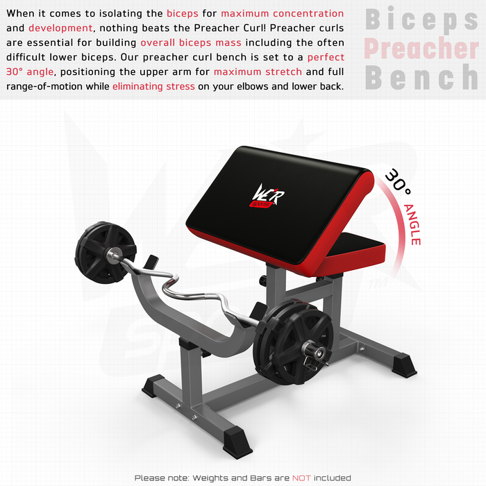 WeRSports adjustable preacher bench