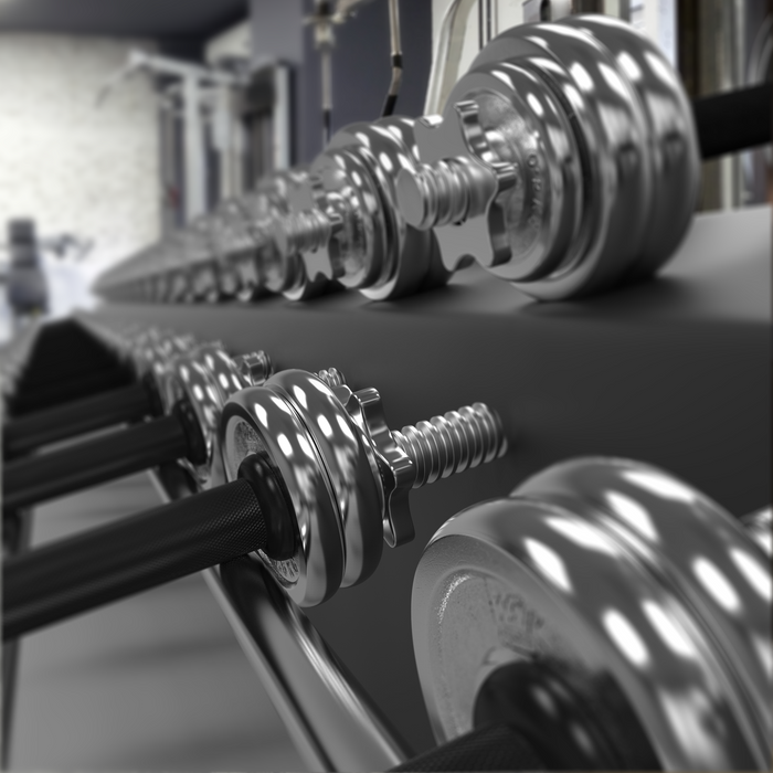 Chrome dumbbells from WeRSports
