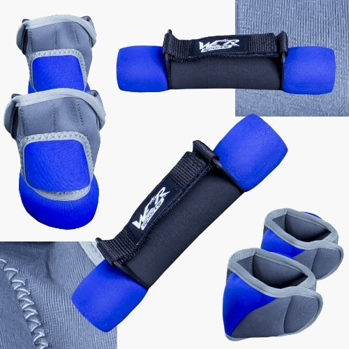 RunFlex Ankle Wrist & Dumbbell Set BLUE BLUE