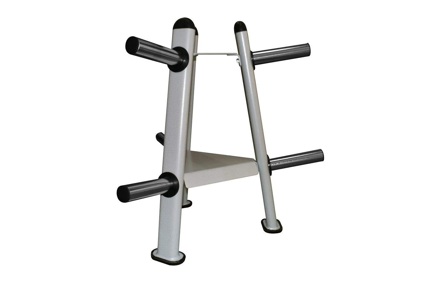 "We R Sports Olympic Weight Plate Rack Stand Storage For 2"" Plates 6 Disc Holders"