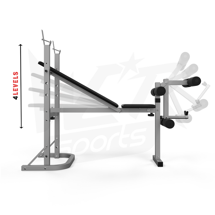 WeRSports adjustable levels for folding weight bench
