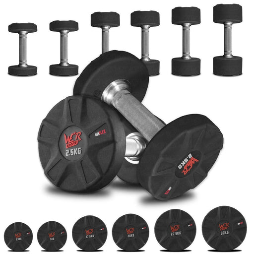 IronFlex Rubber Encased Single Dumbbells from WeRSports