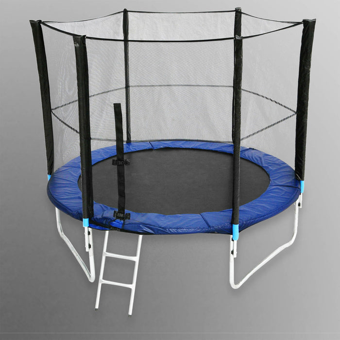 BounceXtreme Garden Trampoline with Ladder and RainCover in blue