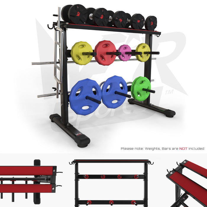 Dumbbell & Weight Plate Storage Rack Stand Holder Home Gym Workout from WeRSports