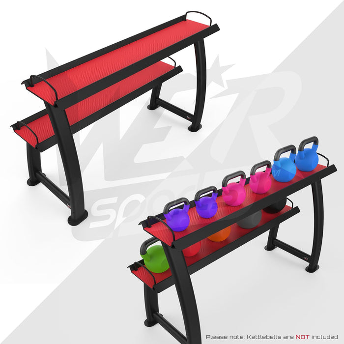WeRSports home gym kettlebell display stand