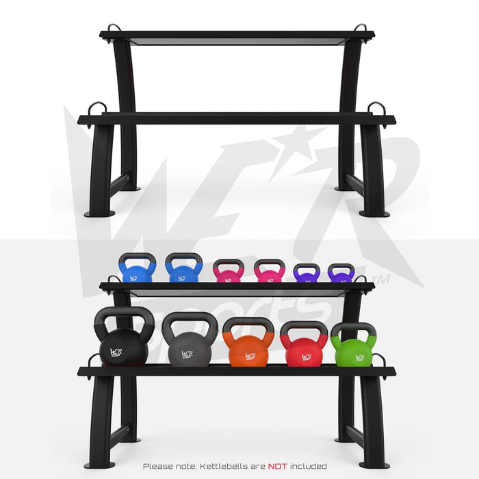 Home gym kettlebell display stand