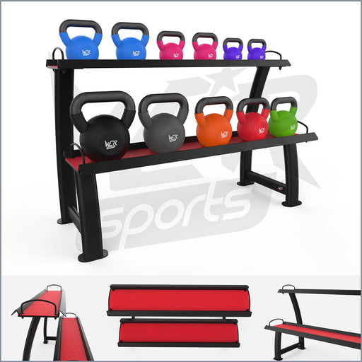 2 Tier Home Gym Kettlebell Weight Storage Display Stand Rack For Kettlebells from WeRSports
