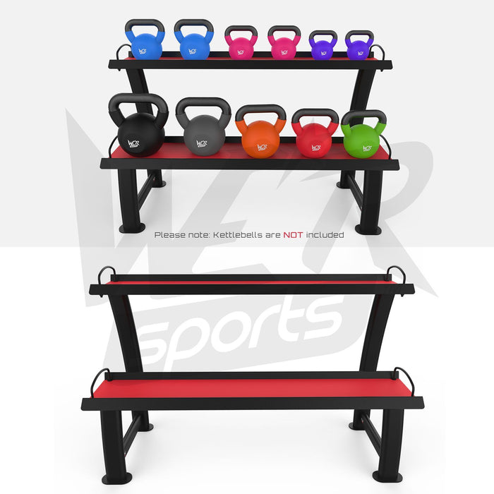 Kettlebell weight storage stand with and without weights