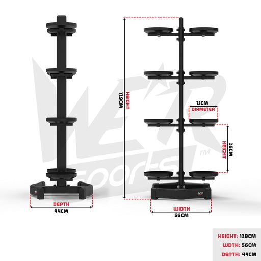 Gym weight rack size dimensions