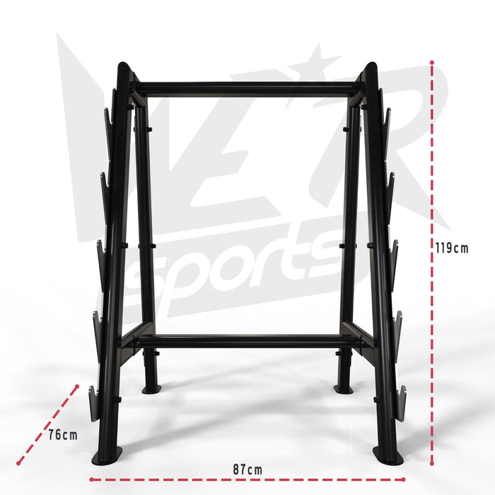 Weight storage rack size dimension