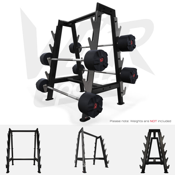 Hex barbell storage bar from WeRSports