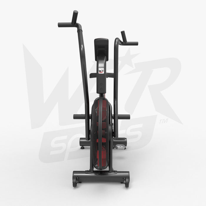 Exercise bike for cardio training back view