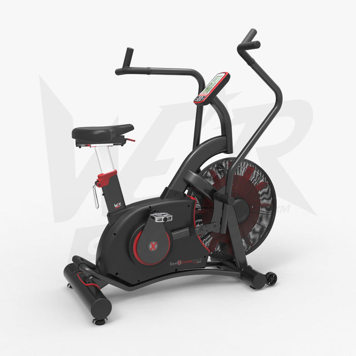 Air bike dual action exercise bike right view