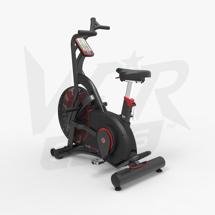 Commercial exercise bike left view