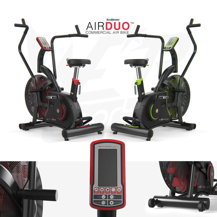 Exercise Bike Commercial Air Bike Dual Action Fan Bike Full Body Gym Workout Crossfit from WeRSports for cardio training