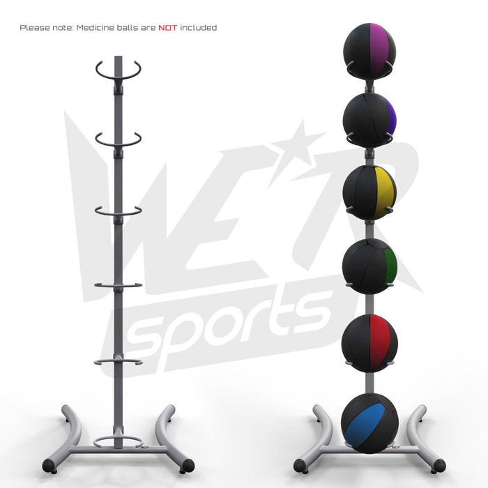 medicine ball rack with balls