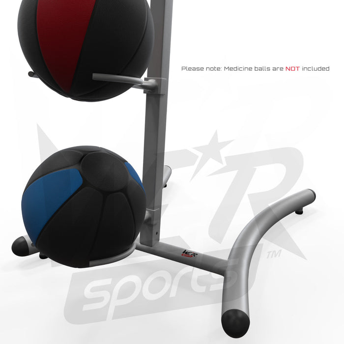 Medicine ball rack base with balls