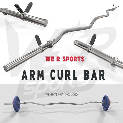 "FlexBar 1"" Curl Bar with Spring Collars from WeRSports for weight training"