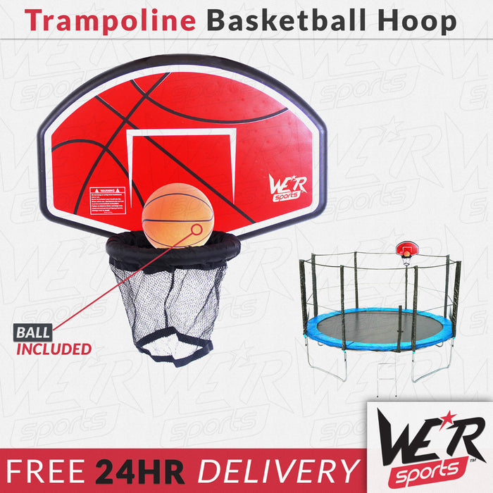 24 hr delivery trampoline basketball hoop from WeRSports