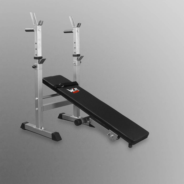 WeRSports XBench 3 flat weight bench with rack