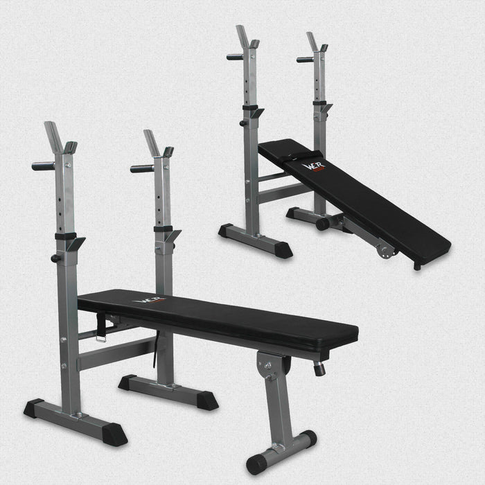XBench 3 Flat weight bench with rack from WeRSports