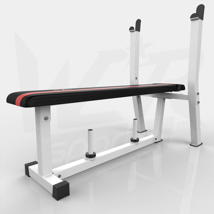 BenchXPower white and red weight bench from WeRSports