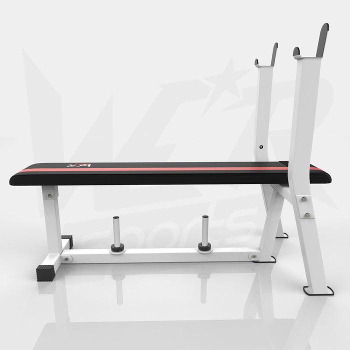 Side view of flat weight bench from WeRSports