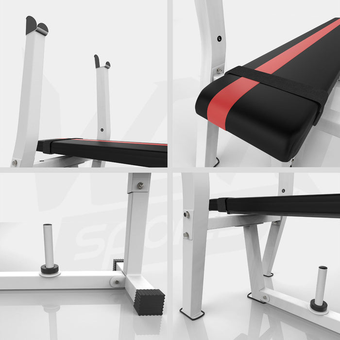 Weight bench with rack and plate holder from WeRSports