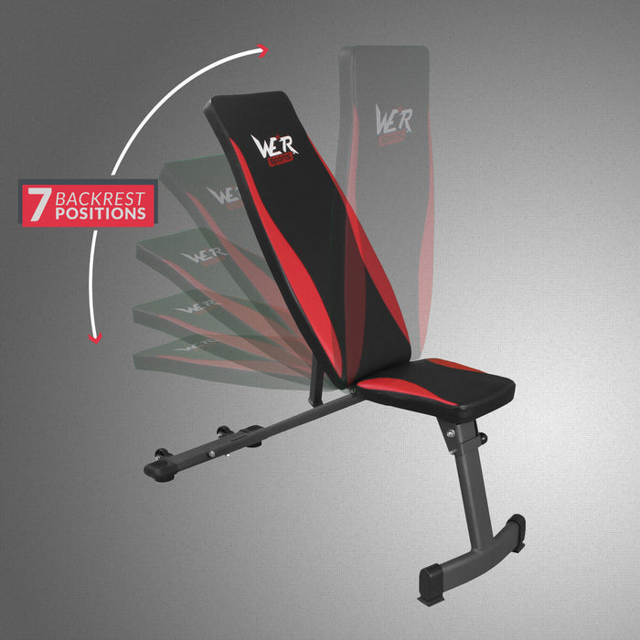 7 backrest positions from the InclineFlex weight bench