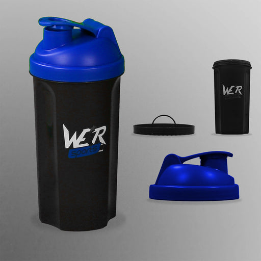 blue ShakenInProtein Shaker Bottle from WeRSports