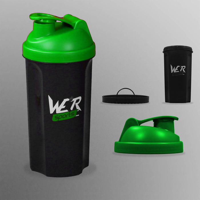 green ShakenInProtein Shaker Bottle from WeRSports