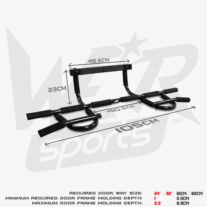 ChinUpFlex door gym bar size dimensions
