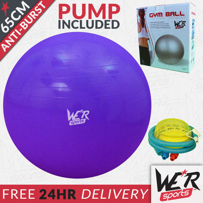 65cm violet YogaFlex gym ball 24 hr delivery from WeRSports