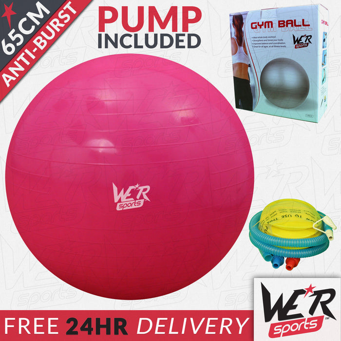 65cm red YogaFlex gym ball 24 hr delivery from WeRSports