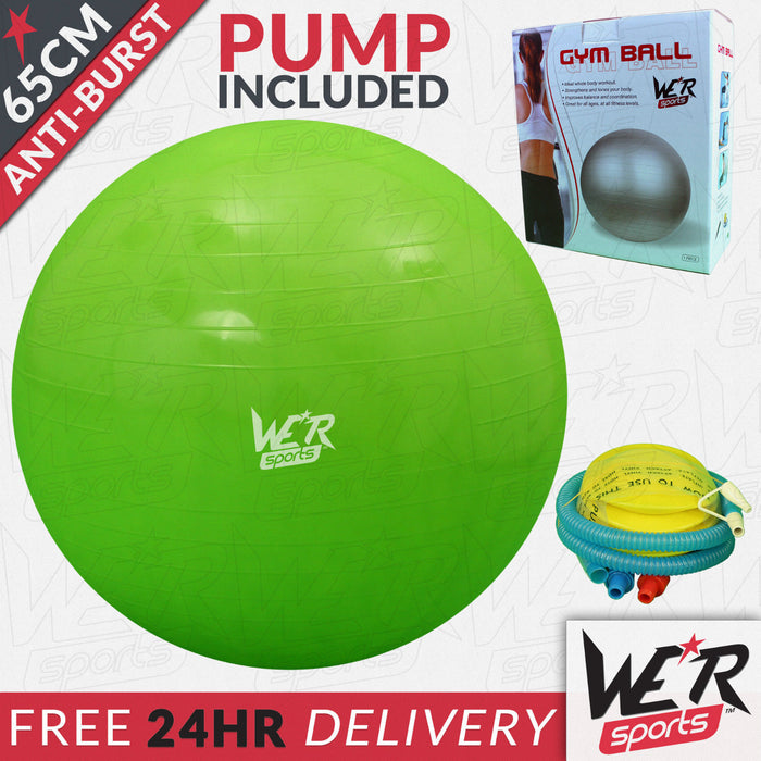 65cm green YogaFlex gym ball 24 hr delivery from WeRSports
