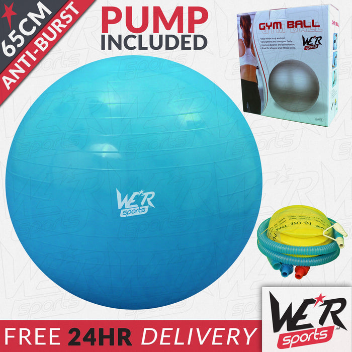 65cm blue YogaFlex gym ball 24 hr delivery from WeRSports