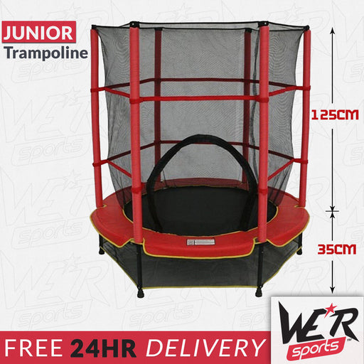 24 delivery of red BounceXtreme junior trampoline from WeRSports