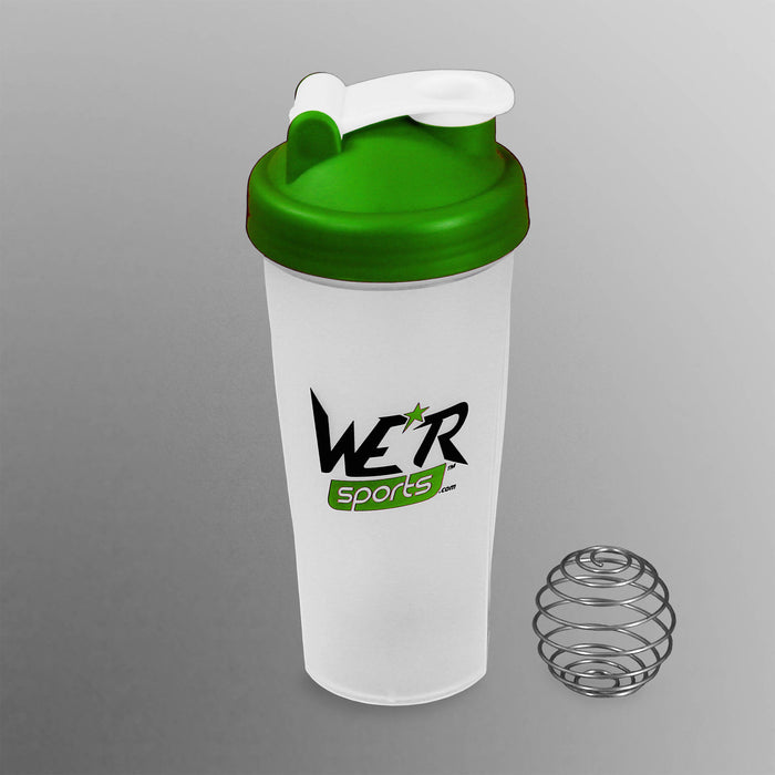green 700ml shaker bottle