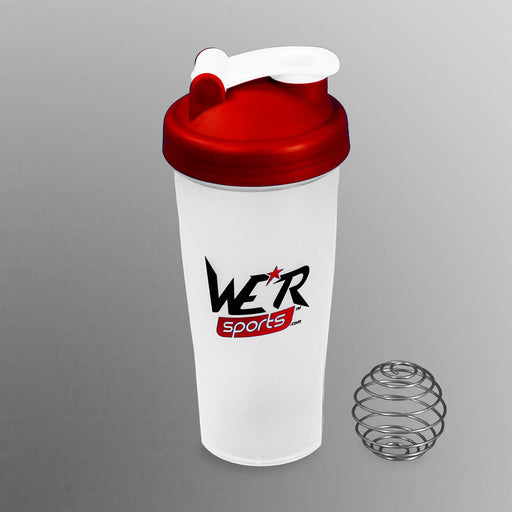 red 700ml shaker bottle