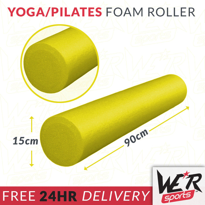 24 hr delivery of yellow yoga/pilates foam roller from WeRSports