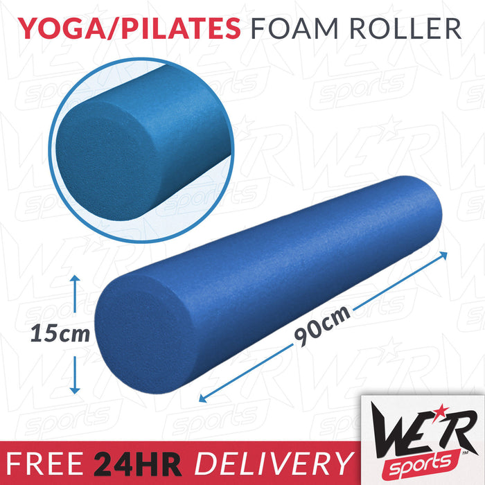 24 hr delivery of blue yoga/pilates foam roller from WeRSports