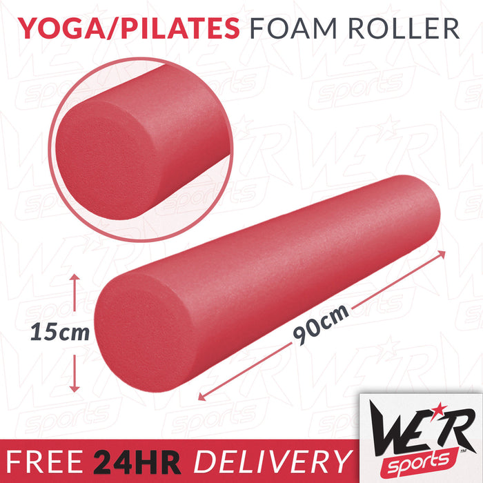 24 hr delivery of red yoga/pilates foam roller from WeRSports